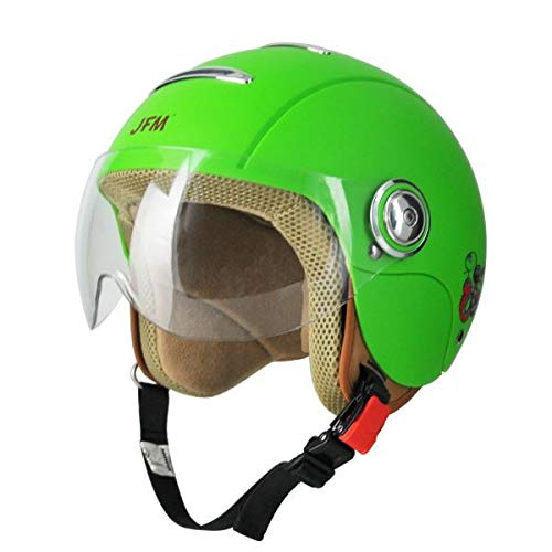 JFM - Casco Jet para niño Snake verde mate Small verde opaco