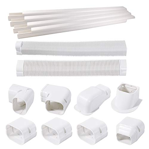TAKTOPEAK [Quick Installation] PVC Decorative Line Cover Kit for Ductless Mini Split Air Conditioners, Central AC and Heat Pump Systems