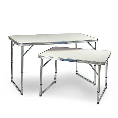 ESTEXO® Aluminium Campingtische mit MDF Tischplatten, Klapptisch, Gartentisch, Picknicktisch, Koffertisch, Tisch (60x80 cm)