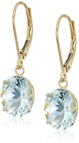 14K Gold Leverback Earrings
