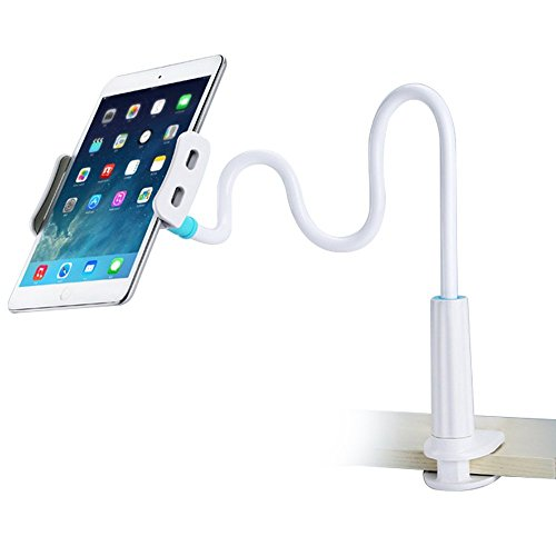Tablet Stand Holder, Gooseneck Phone Holder/iPad Stand/Tablet Mount for iPhone X/8/7/6/6s Plus, Galaxy S8 /S8 Plus/Note 8, iPad Pro 9.7/Mini/Air and More, 360 Rotating
