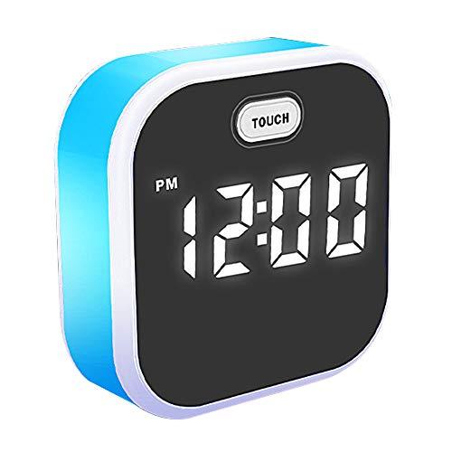 TFACR Wach auf, Digitaler Wecker mit 7 Farben, 3 Alarm, LED Nachttischlampe, Kinder Geschenke