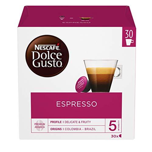 NESCAFÉ Dolce Gusto Espresso-Kaffeepads, 30 Kapseln (90 Portionen, 3er-Pack, insgesamt 90 Kapseln)
