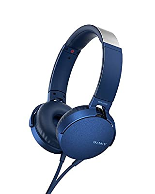 Sony MDR-XB550AP Extrabass Headphones - Blue by Sony