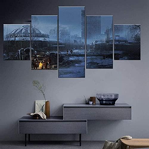 Cuadro de lienzo modular 5 Escape from Tarkov Game a Living Room Poster Home Canvas ngtwork