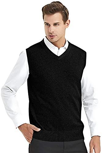 HONEYBELL Men's Wool Half Sleeve Sweater for Normal Wear Purpose