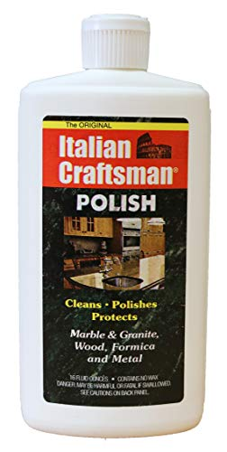 Granite and Marble Polish - Cleans and Protects - Italian Craftsman 16 oz