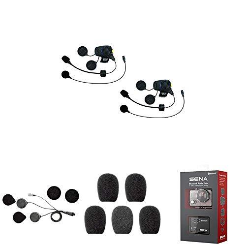 SMH5D-FM-UNIV Bluetooth Headset und Gegensprechanlage + SMH5-A0307 Minilautsprecher + SC-A0109 Mikrofonaufsätze + GP10-02 Bluetooth Audio-Pack & Zubehör für GoPro-Kamera