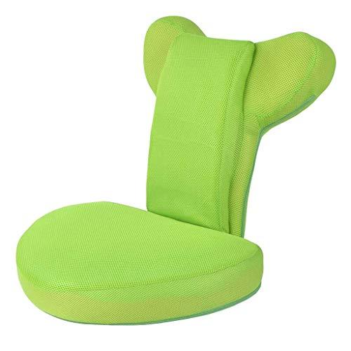 JJZXT Position Memory Foam Floor Chair Gepolsterter Gaming-Stuhl Komfortable Rückenstütze Rocker Ideal zum Lesen von Spielen Meditieren (Color : B)