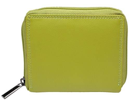 Josephine Osthoff Handtaschen-Manufaktur Leder Geldbörse The Box Limone mit umlaufendem Reißverschluss Wiener Schachtel 7 Karten 925/59