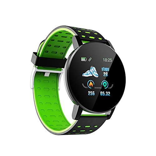 Reloj Inteligente, 1,3 Pulgadas Reloj Inteligente De Fitness con GPS A Prueba De Agua En Espera Durante 20 Días Vigilancia De La Salud Medición De Frecuencia Cardíaca Plan De-Green