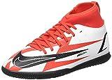 Nike JR Superfly 8 Club CR7 IC, Zapatillas de ftbol, Chile Red Black White Total Orange, 33 EU