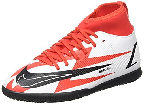 Nike JR Superfly 8 Club CR7 IC, Zapatillas de ftbol, Chile Red Black White Total Orange, 33.5 EU