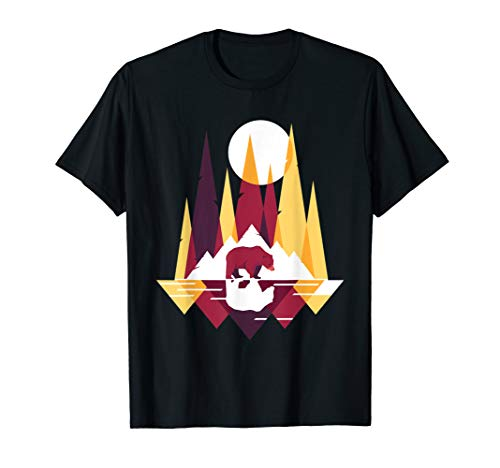 Fraktale geometrische Bärn-Tier-Tier-Grafik-Geschenk T-Shirt
