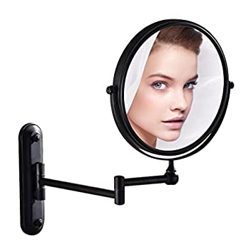 GURUN 8 Inch Bronze Magnifying Makeup Mirror Wall Mounted for Bathroom with 10x Magnification M1207O 8in,10x