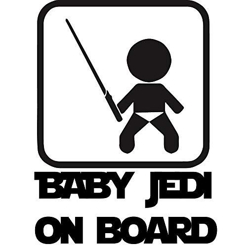 Sticker autocollant BABY JEDI ON BOARD - Couleur au choix