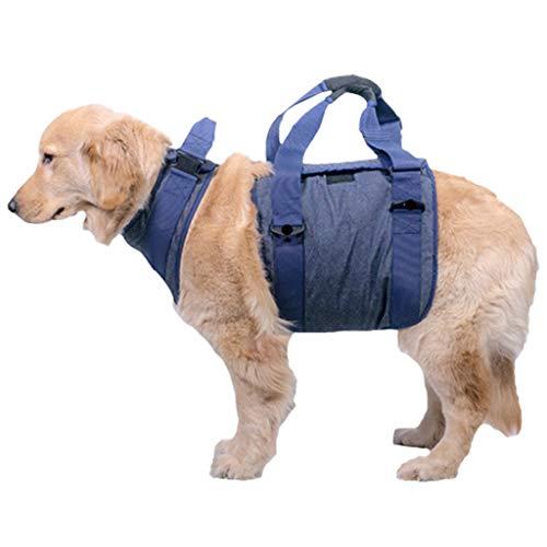 ZH Hundegeschirr, Pet Support & Rehabilitation Sling Lift Verstellbare Weste Atmungsaktive Gurte, für Old/Disabled/Arthritis Dogs Walk