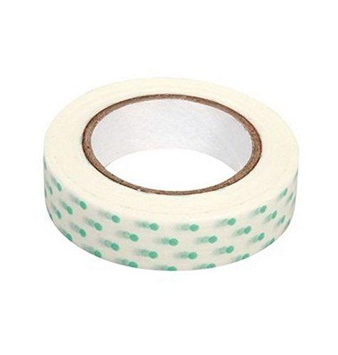 Ray - Washi tape blanc à pois vert