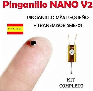 Pinganillo Nano imán V2 KIT COMPLETO (Beige/Naranja)