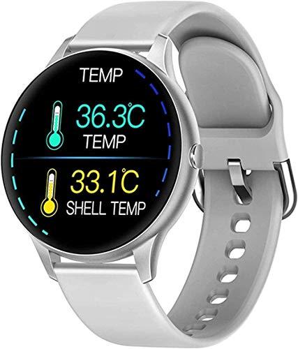 JSL Reloj inteligente Bluetooth para mujer, IP68, resistente al agua, con pantalla táctil completa de 1,3 pulgadas, 8 modos deportivos, monitor de ritmo cardíaco