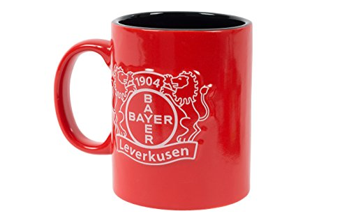 Bayer 04 Leverkusen, Tasse, Kaffeebecher 0,3l Motiv Relief