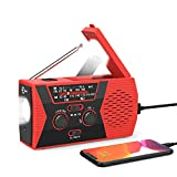 [New Version] Esky Emergency Solar Hand Crank Radio, NOAA Weather Radio with AM/FM