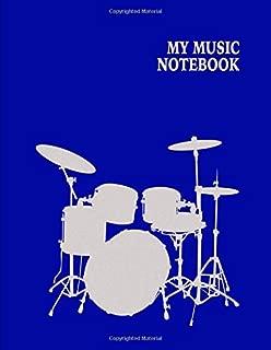 My Music Notebook. Blank Manuscript Paper Staff Paper Journal.