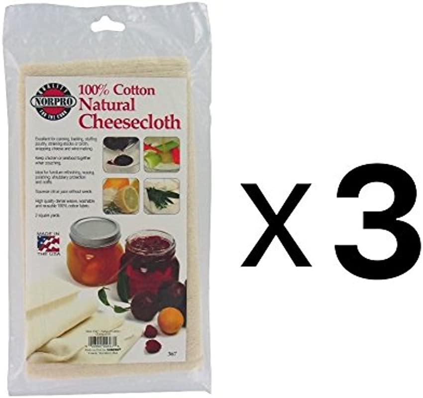 Exclusive Norpro 367 Natural Cheese Cloth Set Of 3