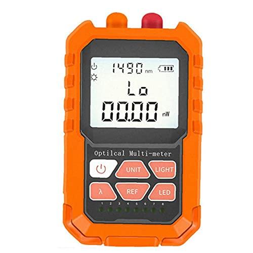 Optical Fiber Tester Lamp Red Light Power Meter Optical Power Meter Fiber Optic Cable Tester Mini Portable Orange Optical Fiber Tester Lamp