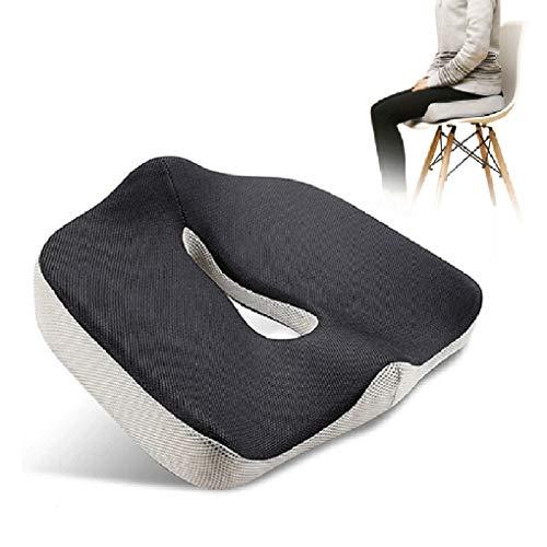KOQIO - Cojín de espuma viscoelástica para corrección de postura, cojín de apoyo lumbar para espalda hemorroides y caderas, ciática para sillas de ruedas de cocina, coche, 1 unidad