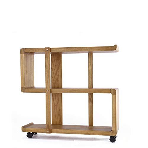 Bureau DD rekken natuurlijke bamboe boekenplank, massief hout planken, beweegbare multi-level vloer tot plafond boekenkast, voor woonkamer slaapkamer kleine, bank zijtafel -werkbank