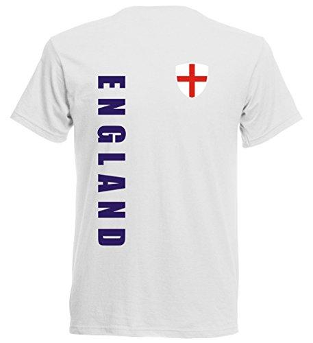 England Kinder T-Shirt - TS-10 - EM 2016 - weiß - Fussball Trikot (152)