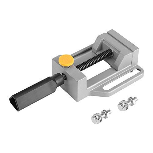 Tornillo de banco, Aleación de aluminio de liberación rápida de abrazadera plana Banco de mandíbula herramienta de banco de grabado de la abrazadera 11.5 * 13.5 * 4.6cm
