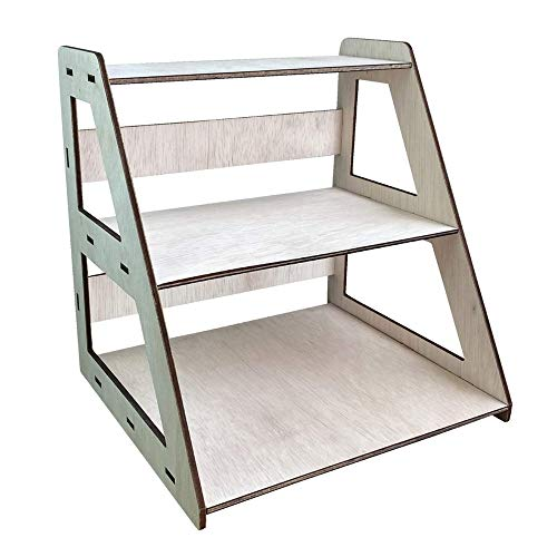 table display for vendors Torched 3-Tier Retail Table Display Stand with Shelves for Products - Portable   3 Step Riser Display Rack for Retail Table Top, Counter Top, Craft Shows, Farmers Market   Showcase Display for Jewelry