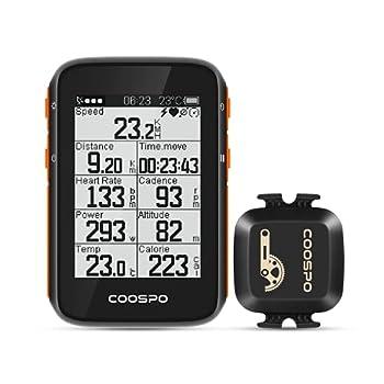 CooSpo GPS Bike Computer Cadence Speed Sensor Bluetooth ANT+ Cycling RPM Sensor Bicycle Speedometer