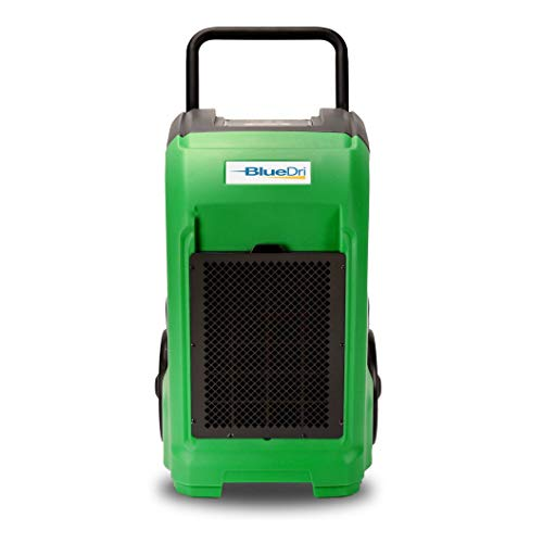 BlueDri BD-76 Commercial Dehumidifier for Home, Basements, Garages, and Job Sites. Industrial Water Damage Equipment - Pack of 1, Green