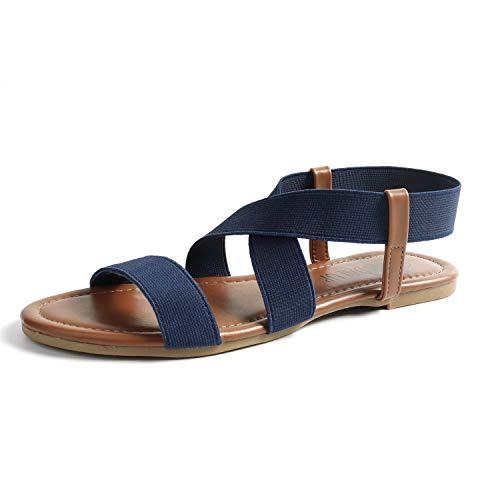 SANDALUP Neue elastische Sandalen für Damen Summer Neue Navy blau 08