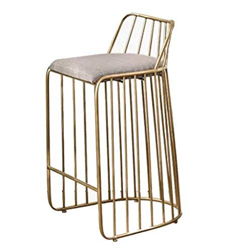 Barhocker Kreativer Stuhl Barhocker Designer Freizeit Einzelsessel Barhocker Industriehocker Frühstückshocker Gold Hochstuhl Esszimmerstuhl YZJL (Color : C)