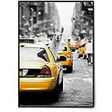 BLCKART Crazy Lama in a NY Taxi Poster Set Stilvolle Poster