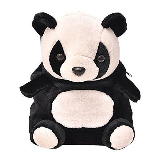 Happy Cherry - Mochila Infantil de Oso Panda Bolsa Guardería Bolso Escolar para Niños Niñas Bebés 2-5 Años