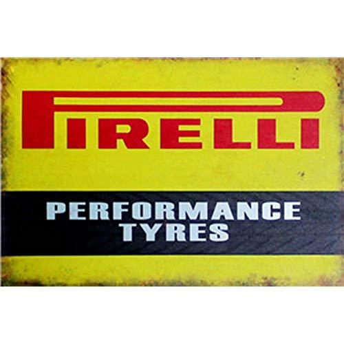 Bloemkralen Vintage Tin Tekenen Retro Metaal Schilderen Antieke IJzeren Poster Bar Pub Tekenen Muurschildering Sticker - Pirelli Performance banden 20X30Cm