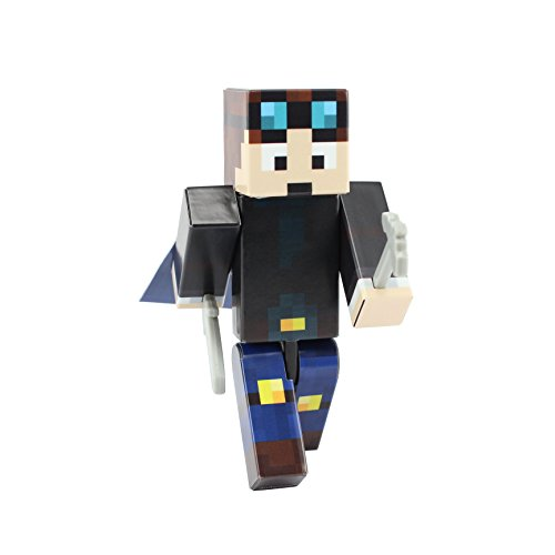 EnderToys Miner Boy Action Figure Toy, 4 Inch Custom Series Figurines