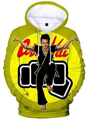 Unisex Karate Dojo Cosplay Hoodies Cobra Kai Sudadera 3D Impreso Chaqueta Pullover para Halloween