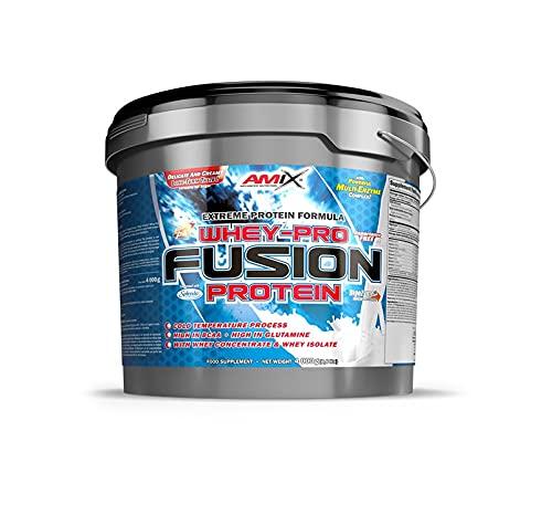 Amix - Whey Pure Fusion Protein, Suplemento Alimenticio, Favorece el Entrenamiento de Mayor Calidad, Mejora la Recuperación Muscular, No Contiene Cafeína, Sabor Moca-Chocolate-Café - 4 Kilos