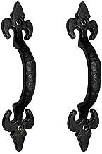 Adonai Hardware Nethaniah Antique Iron Door Pull (Black, 156.50 x 14.50 mm) - Pack of 2 Pieces