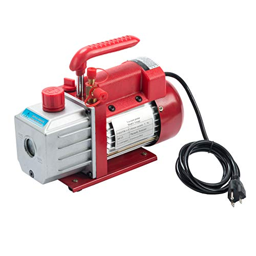 Z ZELUS 4,5 CFM Kit de Pompe à Vide de Fluide Frigorigène, 1/3HP Pompe à Vide de Réfrigération Digital, Ensemble de Jauge Collecteur de Diagnostic HVAC AC R134a R22 R410a (4,5 CFM)