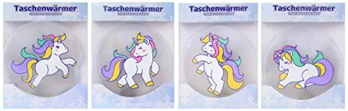4 Stück Taschenwärmer Handwärmer in Verschiedenen Motiven im Design Pinguin, Wintermotive,...
