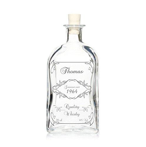 Edle Whisky Karaffe/Whisky Flasche inkl. persönlicher Gravur - Viereckig - Motiv 130 Titelbild