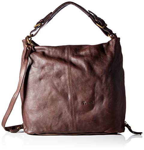 THINK! Damen Ledertasche_3-000134 Shopper, 3010 Mocca, Normal