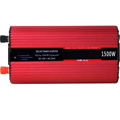 Inversor De Energia con LED Pantalla Car CONVERTOR MÓVIL Tablet Tablet Game Console Inverter de Power Inverter con Enchufe Británico (Color : Red, Size : One Size)